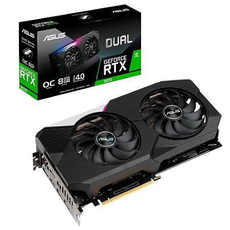 Asus NVIDIA GeForce RTX 3070 Dual OC 8GB GDDR6 256bit (DUAL-RTX3070-O8G)