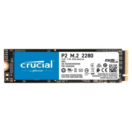 SSD Crucial P2 1TB M.2 NVMe Leituras: 2400Mb/s e Gravações: 1800Mb/s (CT1000P2SSD8)