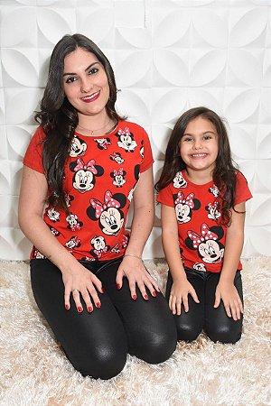 1fdacd8b6 Camiseta mãe e filha minnie vermelha - Maria Manu