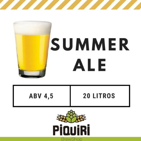 Kit receitas cerveja artesanal 20L Summer Ale