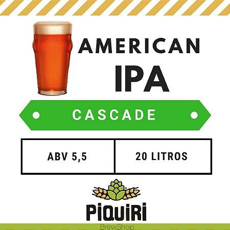 Kit receitas cerveja artesanal 20L American IPA Cascade