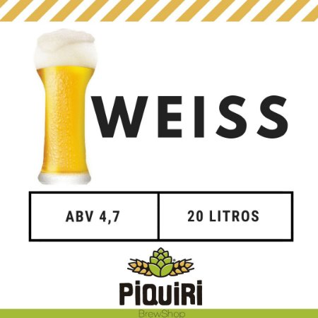 Kit receitas cerveja artesanal 20L Weiss