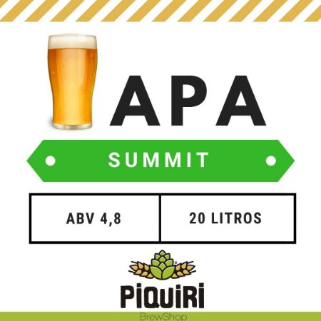 Kit receitas cerveja artesanal 20L APA Summit DH