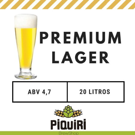 Kit receitas cerveja artesanal 20L Premium Lager