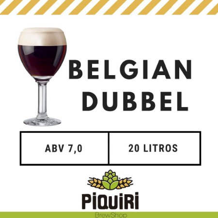 Kit receitas cerveja artesanal 20L Belgian Dubbel