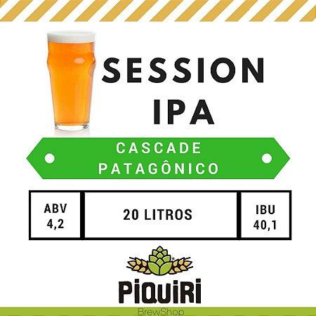 Kit receitas cerveja artesanal 20L Session Ipa CASCADE PAT.