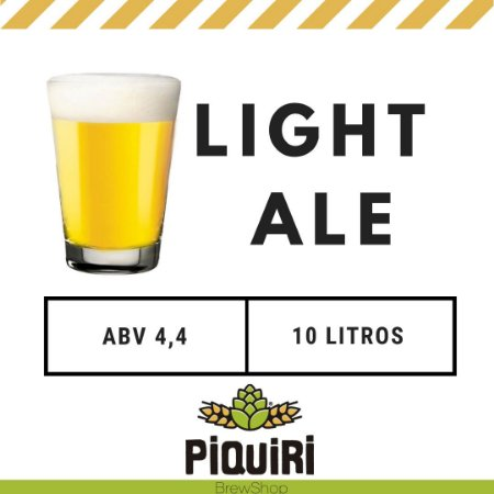 Kit receitas cerveja artesanal 10L Piquiri Light Ale