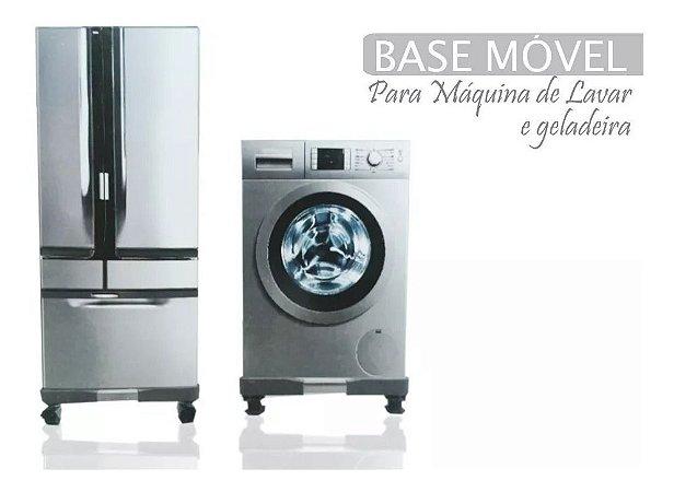 BASE MÓVEL P/ GELADEIRA E MÁQUINA DE LAVAR - REGULÁVEL 90x90