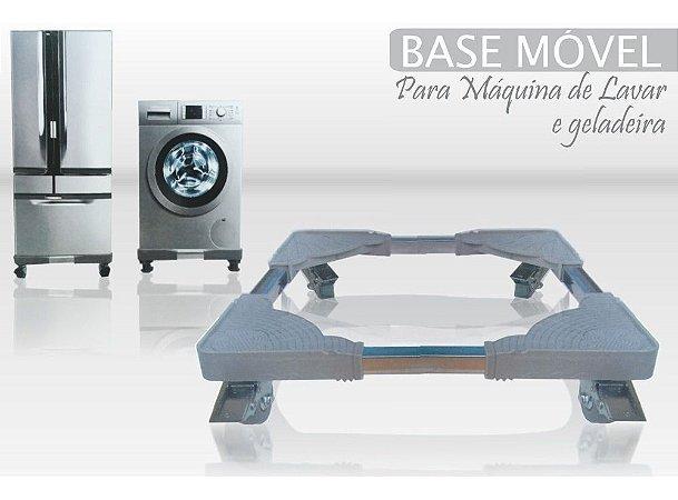 BASE MOVEL P/ GELADEIRA E MAQUINA DE LAVAR - REGULAVEL 80x80