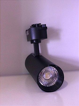 SPOT LED PARA TRILHO ELETRIFICADO PRETO 20w 220v 3500K