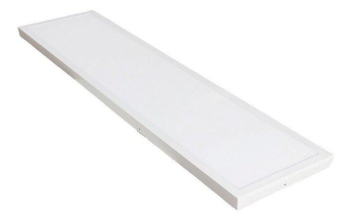 PLAFON LED DE EMBUTIR 120X30 CM 48W PRIMEIRA LINHA