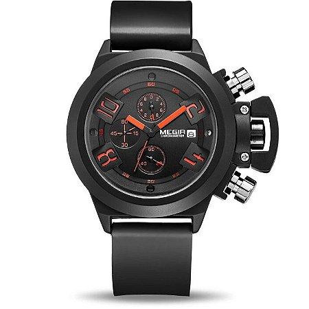 Relógio masculino Megir BlackOrange