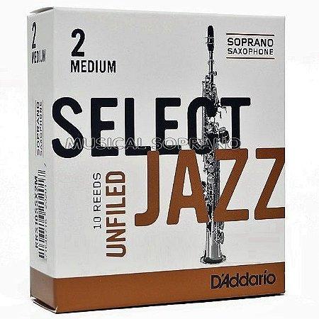 Palhetas Select jazz - Unfiled - para sax soprano (caixa com 10)