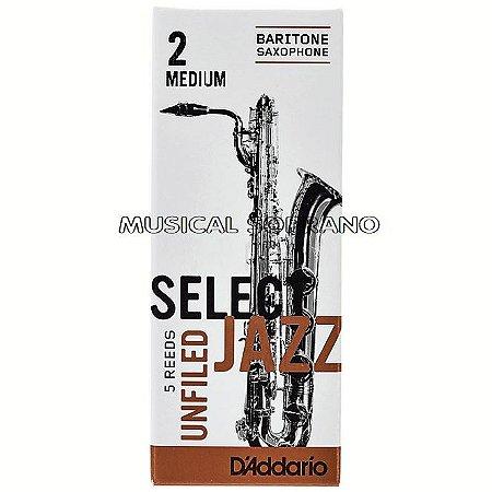 Palhetas Select jazz - Unfiled - para sax barítono (caixa com 5)
