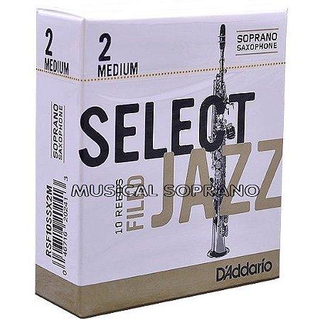 Palhetas Select Jazz - Filed - para sax soprano (caixa com 10)