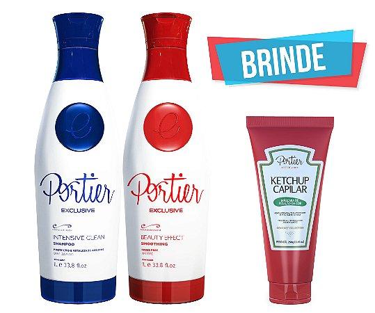 Portier Exclusive Kit - 1000ml (2 produtos) + BRINDE (Ketchup Capilar)