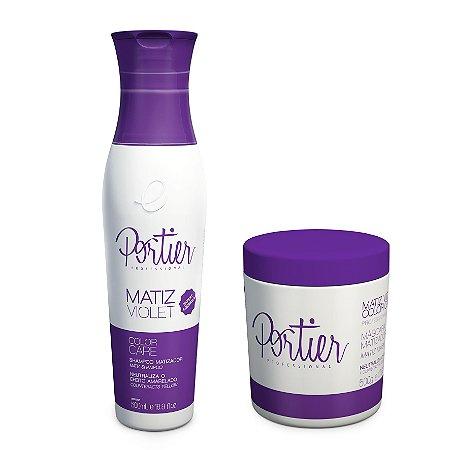 Portier Matiz Violet Shampoo + Mascara Matiz Violet 500ml