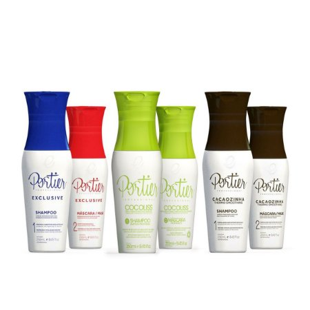 Combo Kit Portier Exclusive 250ml + Portier Cocoliss 250ml + Portier Cacao 250ml