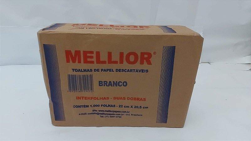PAPEL INTERFOLHA BRANCO 22X20,5 C/1000 MELLIOR