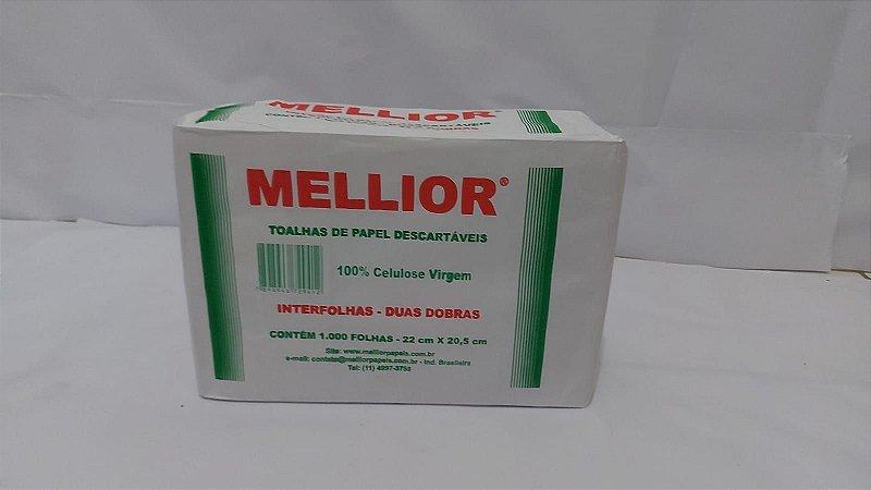 PAPEL INTERFOLHA 100% CELULOSE 22X20,5 C/1000 MELLIOR