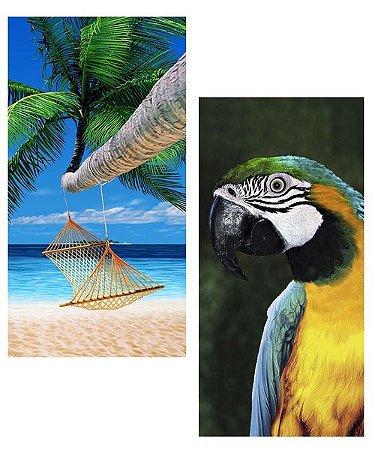 Duas Toalhas de Praia Kit Hammock-Macaw