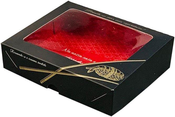 Embalagem Sushi - Tamanho (G) - c/ visor - Pacote com 100 unidades