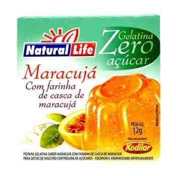 Gelatina Zero Açúcar Maracujá.
