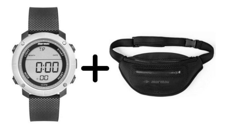 Kit Relógio Masculino Digital Mormaii + Pochete Neoprene