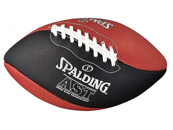 Bola de Futebol Americano Spalding - AST Spiral - Microfibra - Preto/ Marrom