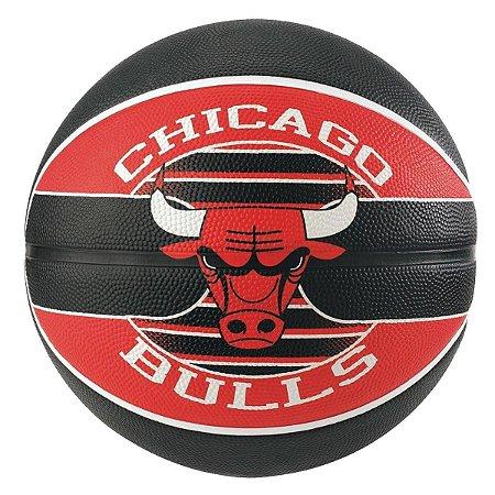 Bola de Basquete Spalding - NBA Time Chicago Bulls - Borracha - Vermelho/Preto