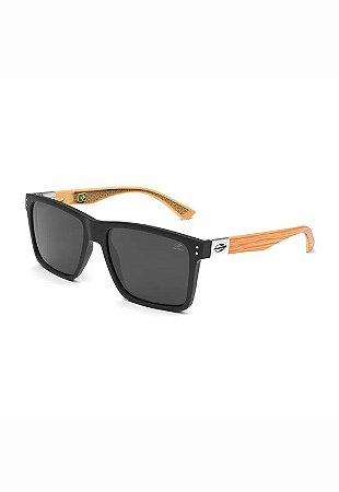 Óculos de Sol - Cairo - Mormaii - Preto Fosco/Madeira