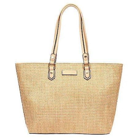 Bolsa Shopping Bag - Mormaii - cor Palha