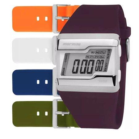 Relógio Mormaii Unissex Tp Prata Fzca/T8B