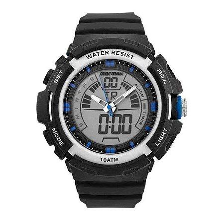 Relógio Anadigi Mormaii Preto Moad08902/8a