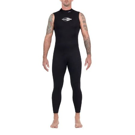 Long John Sem Manga Backzip 2mm Triathlon Natação Mormaii