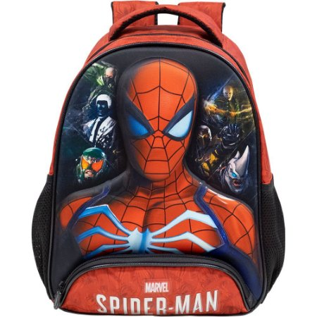 Mochila Escolar Infantil S1 - Spider Man 3D
