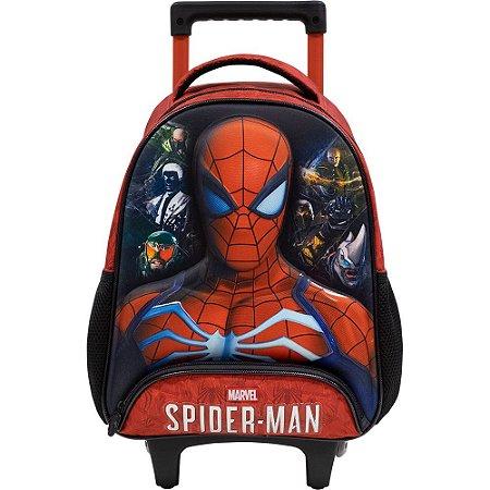 Mochila com Rodas Infantil Escolar S1- Spider Man 3D