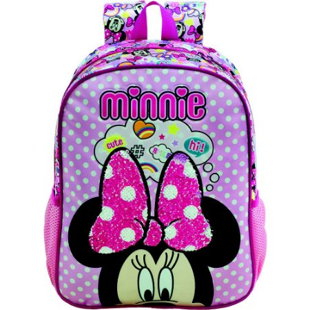 Mochila infantil Escolar Magic Bow - Minnie Rosa