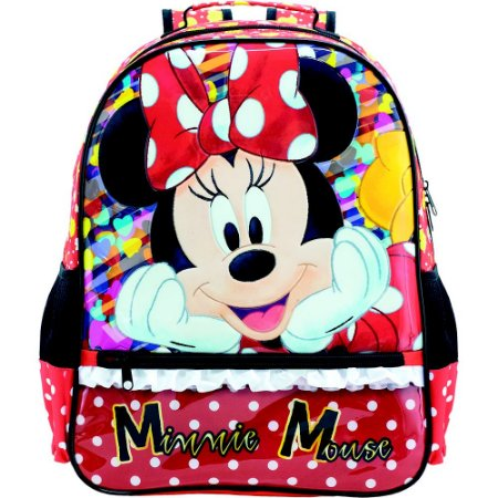 Mochila Escolar infantil Magic Bow - Minnie Vermelha