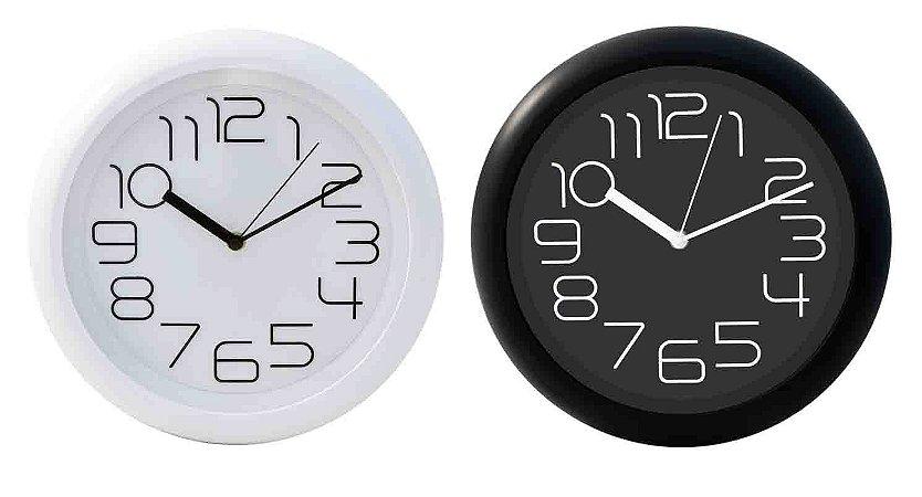 Relógio de Parede Redondo Sortido - 31cm - Números Grandes