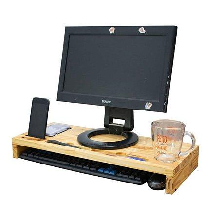 Base Para Monitor/ Mesa Organizadora - Madeira Pinus