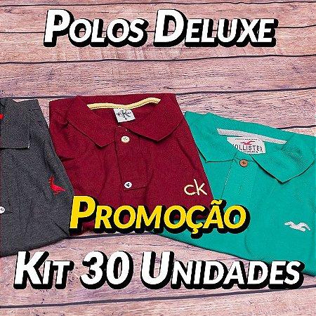 Kit 30 UN - Camiseta Polo Luxo Masculina - Roupas no Atacado