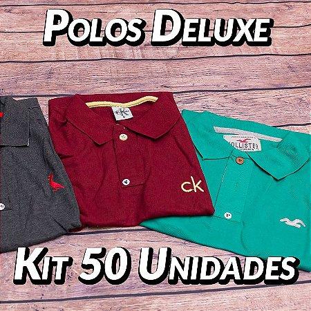 Kit 50 UN - Camiseta Polo Luxo Masculina - Roupas no Atacado