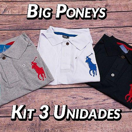 Kit 3 UN - Camiseta Polo Ralph Lauren Masculina - Roupas no Atacado