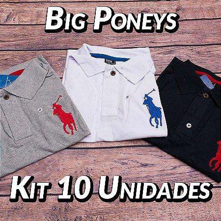 Kit 10 UN - Camiseta Polo Ralph Lauren Masculina - Roupas no Atacado