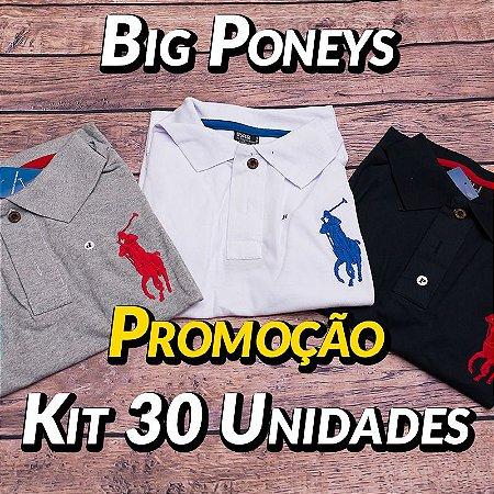 Kit 30 UN - Camiseta Polo Ralph Lauren Masculina - Roupas no Atacado