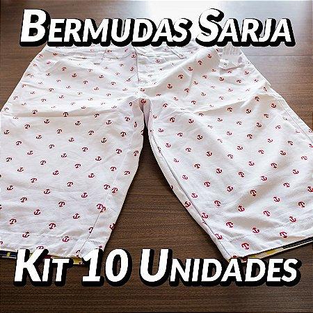 Kit 10 UN - Bermudas Sarja - Marcas Variadas