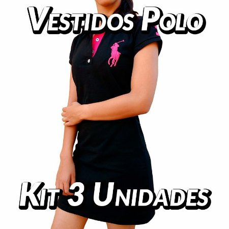 Kit 3 UN - Vestidos Polo Ralph Lauren - Roupas no Atacados