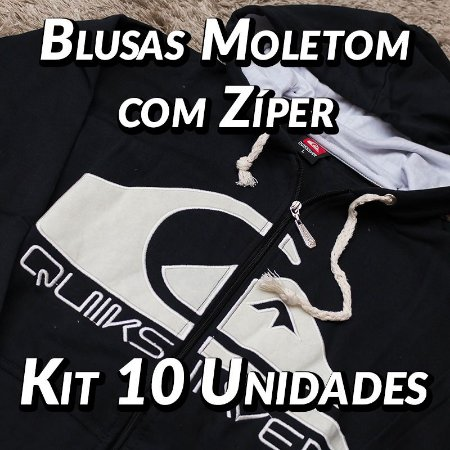 Blusas Moleton com Zíper - 10 UN - Marcas Variadas - Roupas no Atacado