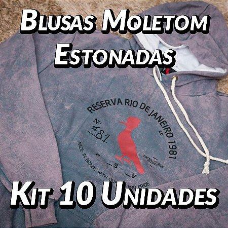 Blusas Moleton Estonadas - 10 UN - Marcas Variadas - Roupas no Atacado